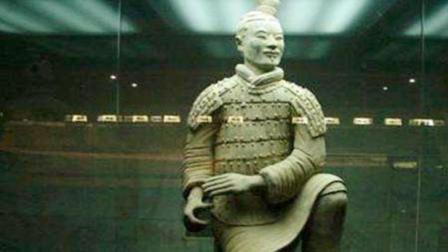 考古挖掘秦皇陵, 墓中出土绿脸兵马俑, 至今没有