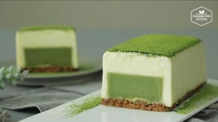 超治愈美食教程: 抹茶慕斯砖 Matcha Terrine Mousse