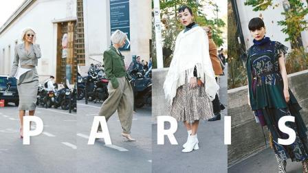 巴黎时装周场外街拍!第13秒的亚洲小姐姐太美了