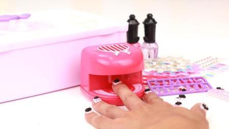 豪华版贴片美甲玩具套装 清水就能做粘合剂