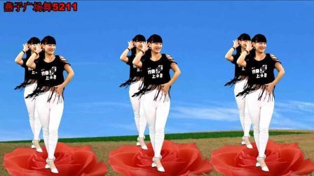 点击观看《燕子广场舞5211 爱上一朵花 速成的的中老年人广场舞视频教学分解》
