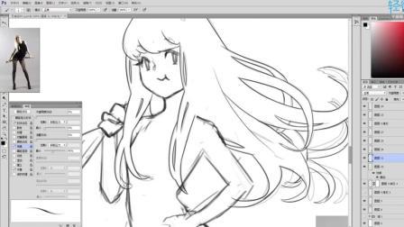 【推荐】ps绘画漫画人物头发的画法教程 高清视频在线