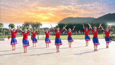 简单好看的藏族舞蹈《我的九寨》舞步整齐动作美丽!
