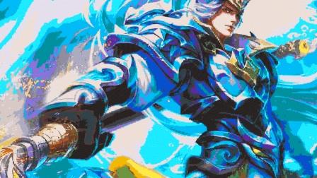 迷你世界: 超级震撼的像素画, 枪出如龙, 白龙吟!