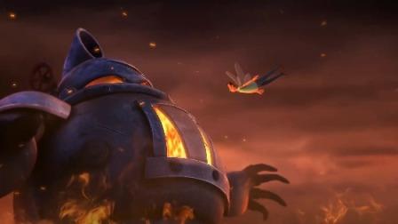 喷火骑士气焰嚣张,为保妻儿小头爸爸长出蜻蜓翅冲入敌方肚中,同归于尽