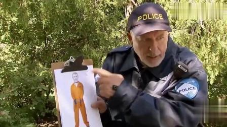 国外恶搞: 警察找到罪犯, 拿起铁掀就暴打, 结果