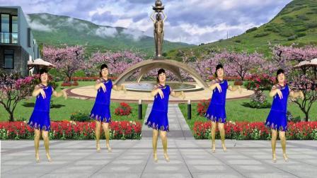 流行情歌广场舞《轻轻吻》简单优美32步!