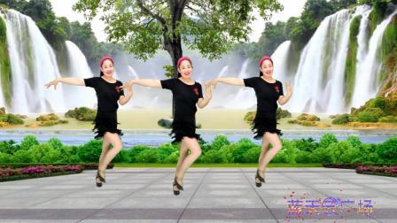蓝天云广场舞教学 时尚拉丁风格舞蹈 邻家美眉 简单32步, 好看好学