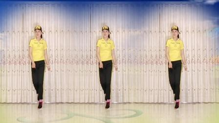 点击观看《驿城区微笑广场舞 22步鬼步舞 爱上一朵花 正面演示三人版》