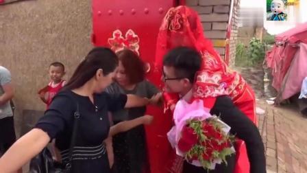 山西朔州农村结婚风俗, 新娘子娶回来后, 先绕篝