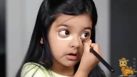 5岁小女孩化妆 秒变18岁少女 真是太美了