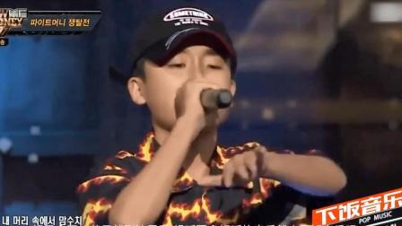 """中国15岁男孩征服韩国说唱届! 3国语言rap震惊全场, 面对diss直呼""""老子来自中国""""!"""