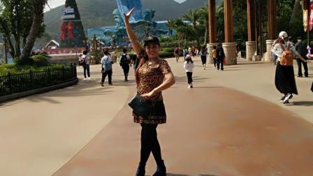 好心情蓝蓝广场舞 想着你的好 健身舞正背面附分解教学