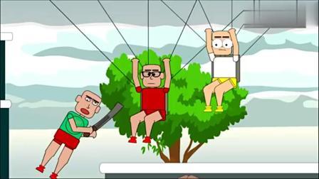 绝地求生搞笑动画: 一人得挂, 队友鸡犬不宁, 决
