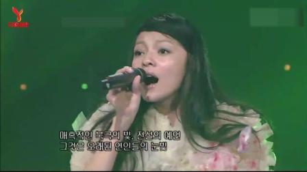 张韶涵早年在韩国节目演唱《欧若拉》, 所有韩国观众被震撼了!