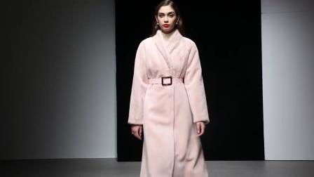 粉色獭兔毛中长款皮草外套收腰毛毛女士貂皮大衣冬季女装2018新款