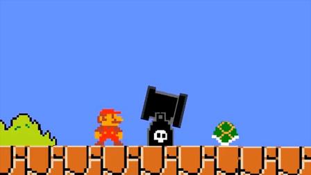 超级玛丽:马里奥超搞笑动画,大叔与龟壳合体