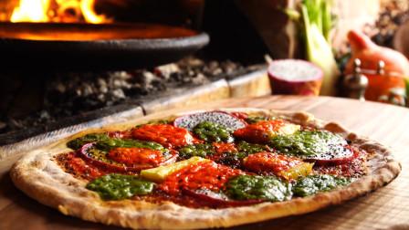 户外美食与优雅的艺术, 水果披萨, 咬下去的瞬间你饿了吗?