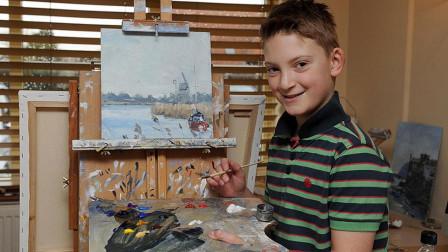 """英国天才画家""""小莫奈"""", 7岁靠卖画买了房, 13岁身价超千万元!"""