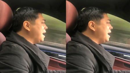 驾驶中大哥翻唱beyond《无悔这一生》火了, 网友: 驾驶中的歌神!