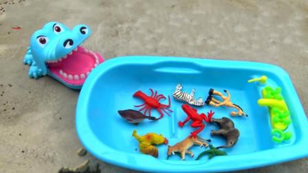户外学习动物世界各种类小动物玩具