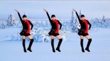 益馨广场舞 冬天里的一把火 时尚健身舞 动感摆胯32步