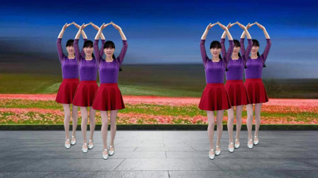 点击观看《阳光溪柳广场舞 新手入门32步广场舞《爱过我的你》新歌新舞, 好听更好看!》