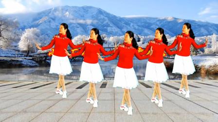点击观看《小慧广场舞《又见雪花飞》像一只只蝴蝶美呀美欢快活泼, 附舞蹈分解教学》