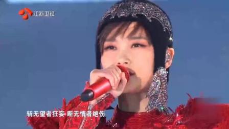 2019跨年演唱会, 李宇春一袭红衣霸气十足, 一首《木兰》好听到爆