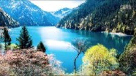 中国好山好水好精彩,九寨长海五彩池,四季雨旱高中斜率物理图像图片