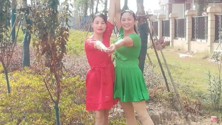 建群村广场舞双人舞《32号嫁给你》北京平四演示彩云追月
