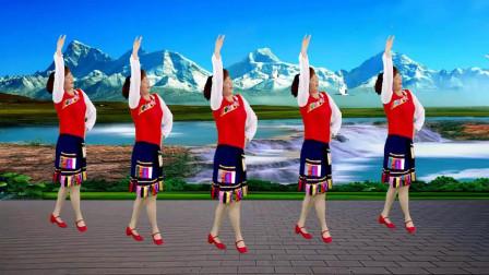 红豆蝶舞芳香广场舞《一朵云在蓝天上飘过》藏族舞 编舞: 叶子