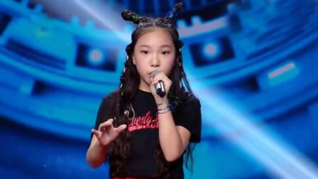 12岁小女孩同导师曹格深情对唱, 两人和声太赞了, 电晕全场