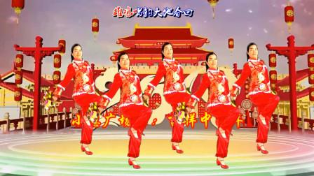 点击观看《小慧广场舞《吉祥中国年》迎新春花球舞, 欢快喜庆大气附教学分解》