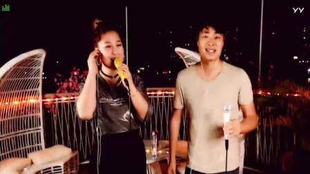 歌手蓝琪儿和网络红人姚大演唱原创歌曲《月下情缘》, 真的很好听