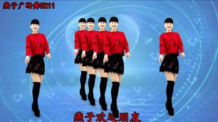燕子广场舞5211《没了心的爱》 简单好看附舞蹈分解教学