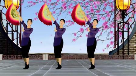 零基础扇子舞《谁说梅花没有泪》