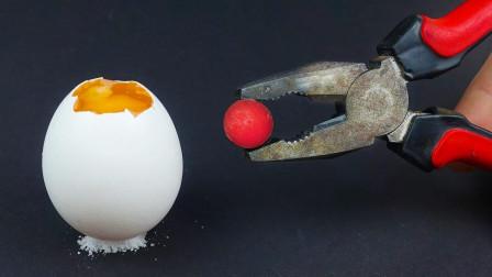 1000℃金属球放生鸡蛋上能烧熟? 网友: 国内吃货可以试试这吃法儿!
