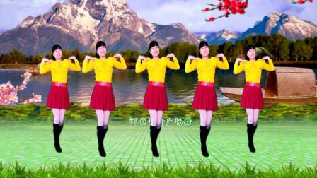 河北青青广场舞《风雨中的情》32步简单好学的舞蹈附口令教学
