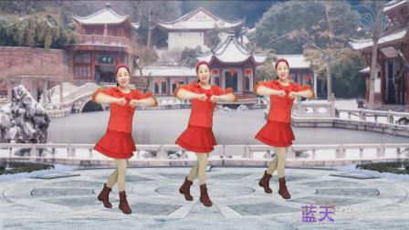 蓝天云广场舞《喜庆临门》贺岁系列广场舞教学分解视频