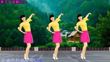 燕子广场舞5211《爱情为何物》健身的好看广场舞视频