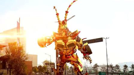 灭霸大战孙悟空,如意金箍棒VS无限手套,最强神器之战,太帅了!