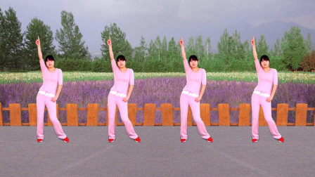 火爆神曲广场舞《38度6》跟热门歌曲 跳简单十六步 节奏感好步子也轻快