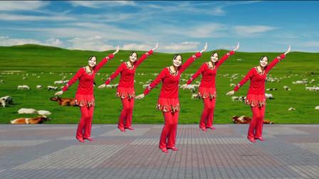 点击观看《藏族风格广场舞《吉祥》大气豪迈,好听好看,简单易学》