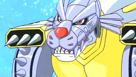 数码宝贝:战斗暴龙兽VS钢铁加鲁鲁 究极体之间的战斗,场面太劲爆了!
