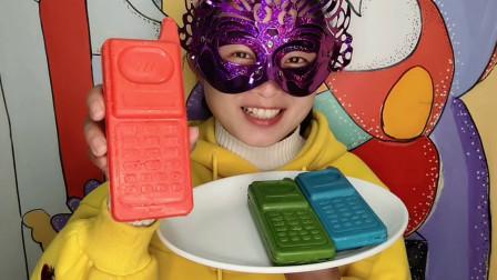 美食吃货,创意3D立体手机巧克力,丝滑甜美唇齿留香,妹子超喜欢