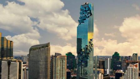 """泰国的""""马赛克""""大楼,白天看着像烂尾楼,晚上灯火通明!"""