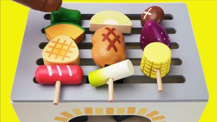 新年烧烤派对儿童木质烧烤切切乐玩具