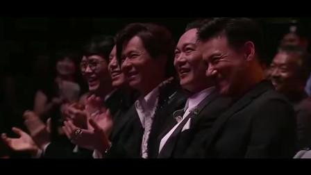 庾澄庆太大胆了,竟当着歌神的面唱他的歌,张学友在台下笑了