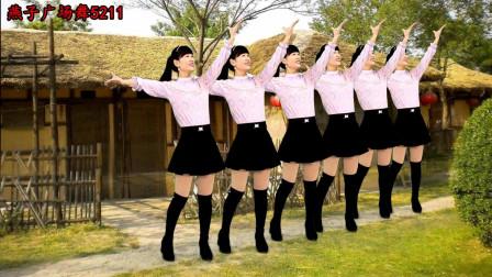 燕子广场舞5211《大河向东流》0基础广场舞一看就能学会的舞蹈